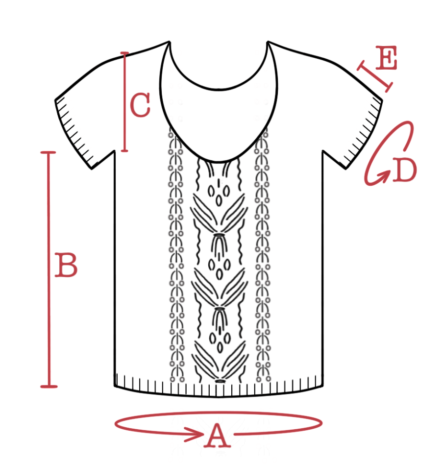 Schematic line drawing of Saturn Return tee